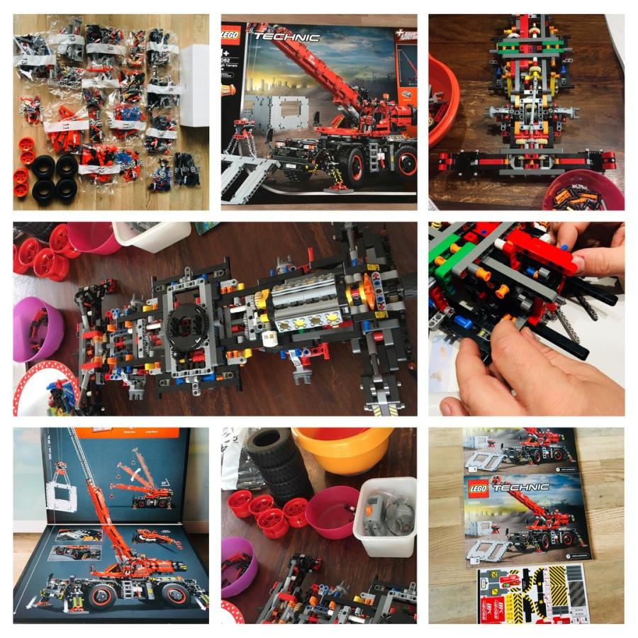 Farbenfrohe Regentage Lego Technik Kran 42082