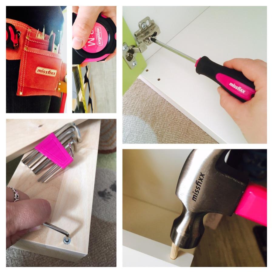 farbenfrohe Regentage - Werkzeuggürtel von missfixx