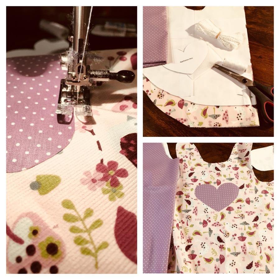 farbenfrohe Regentage - Schwedenkleid / Schürzenkleid