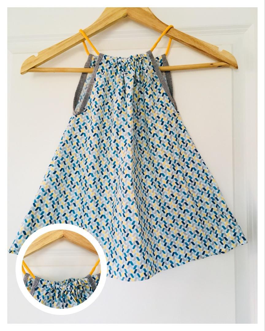 farbenfrohe Regentage - Sommerkleid